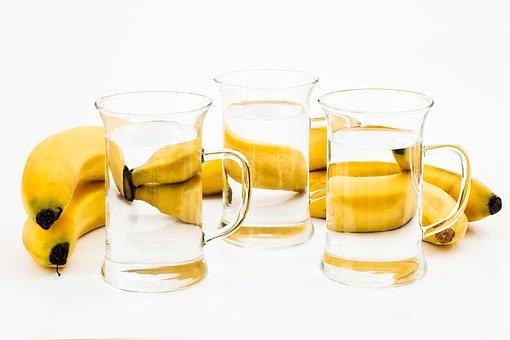 Sticlă, Băutură, Gustare, Banană, Lichid