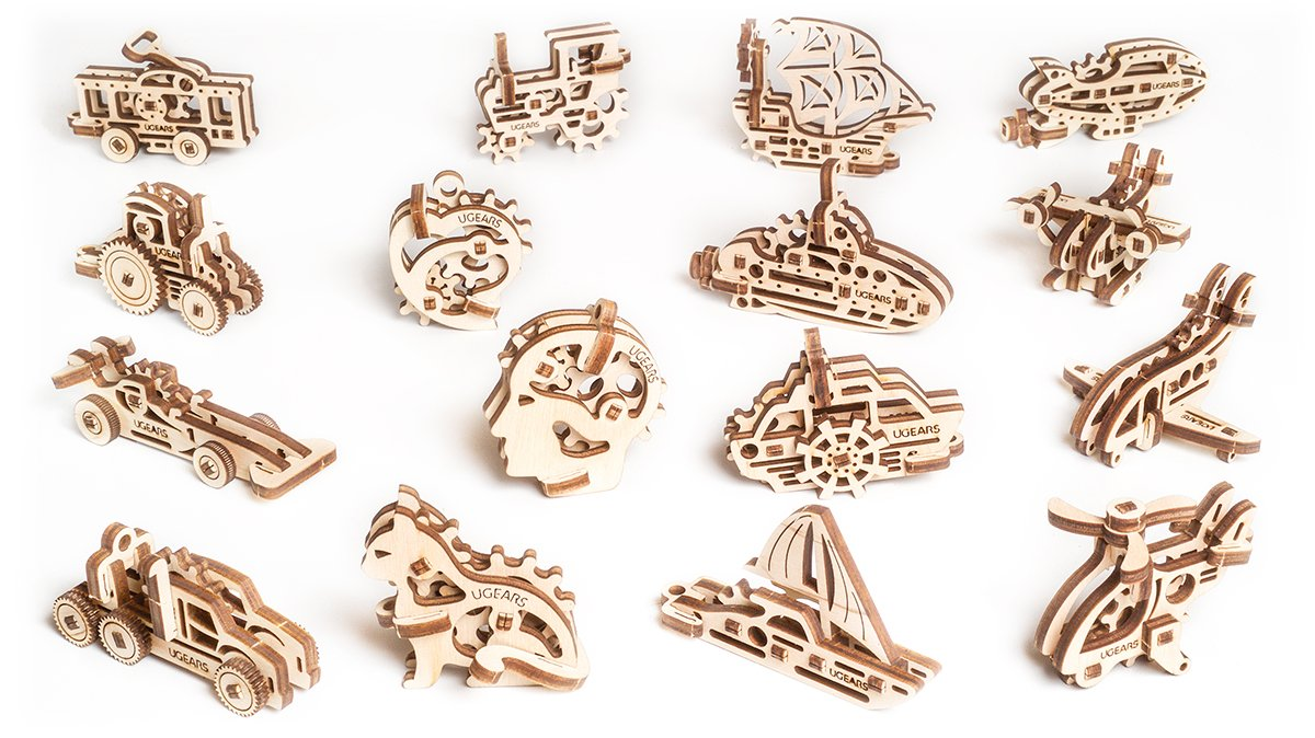 Ugears wooden puzzles